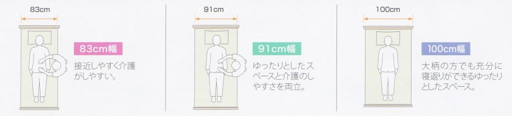 介護用ベッド幅